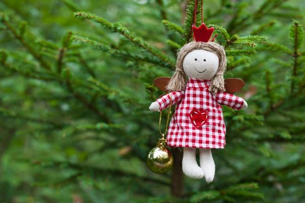 Самодельная игрушка на елке