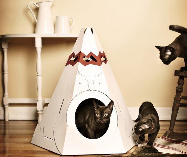 Вигвам для котиков, фото с сайта http://www.petsclan.com