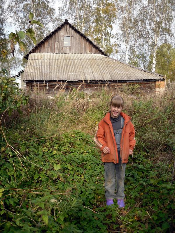 Аленка - первая осень на новом месте