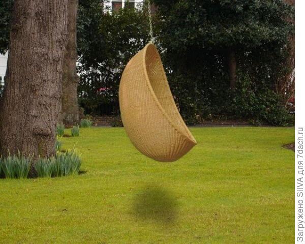 плетеные из бамбука навесные качели-полусфера