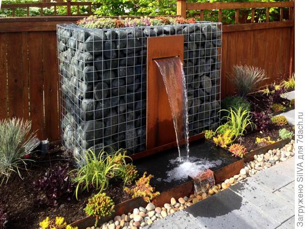 фонтан из габионов