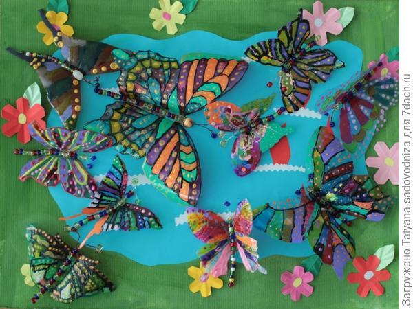 бабочки из пластиковых бутылок, фото с сайта stranamasterov.ru
