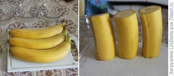 готовим бананы для свечей
