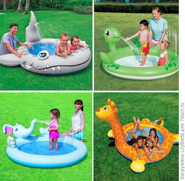 бассейн детский с фонтаном
