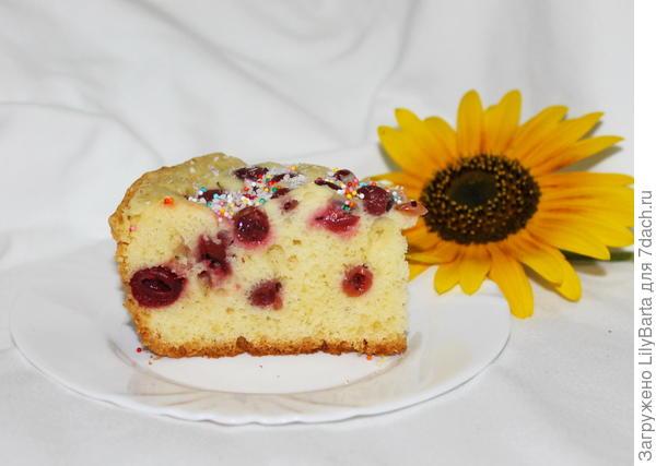 пирог с вишней и крыжовником