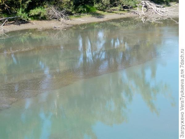 Катунская протока. Мелководье.