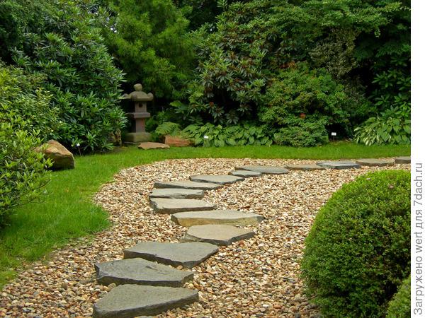 Узоры в саду из камней