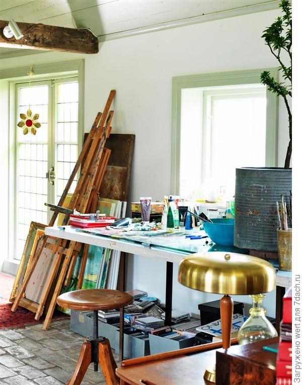 Интерьер дома художника (швеция) дизайн интерьера.
