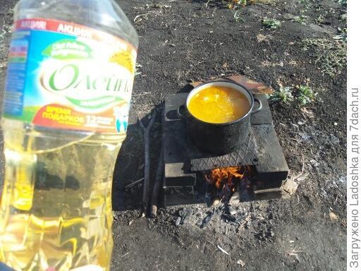 Гороховый суп на костре