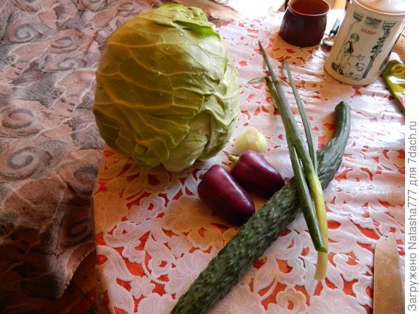 подготовка к салату