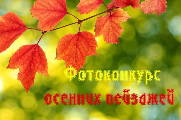 Фотоконкурс осенних пейзажей