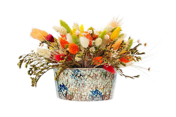 Можно окрашивать листья и сухие соцветия красками