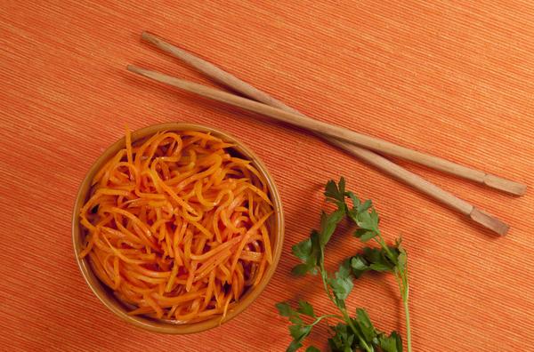 Корейская морковка всегда приготавливается примерно по одной схеме