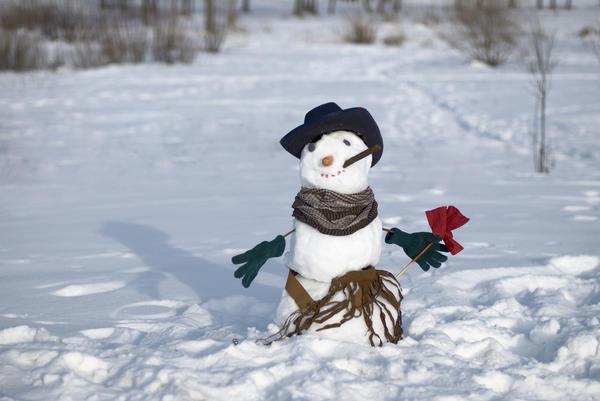 Алая роза в руке - и можно отправляться на свидание к снежной красавице