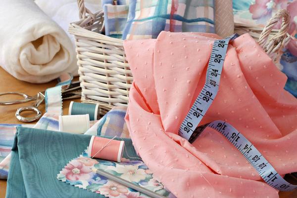 Работа с тканью шитье