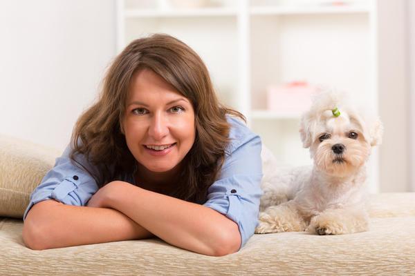 Некоторые женщины предпочитают держать дома собачек мелких пород