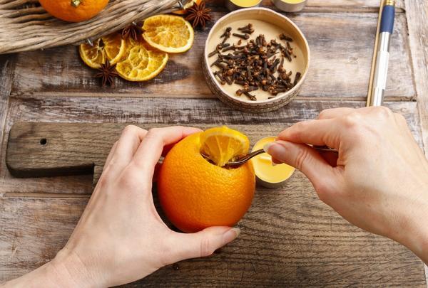Ароматизатор из апельсина