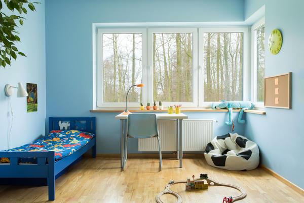 Синий и голубой успокаивают детей, помогая избавиться от страха и переживаний