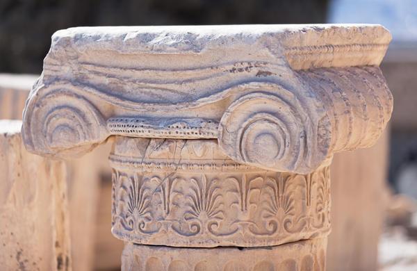 Капитель колонны Акрополя в Афинах