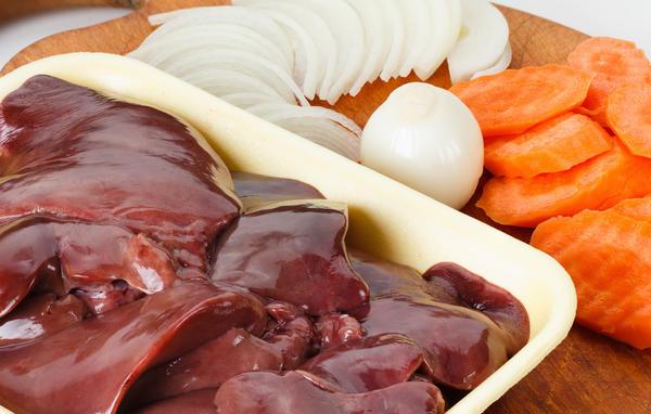 Ингредиенты для приготовления паштета из куриной печени