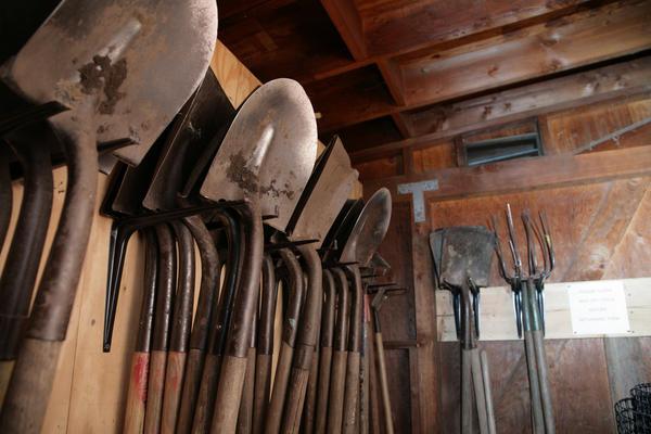 Лопаты, совки, вилы, тяпки, грабли