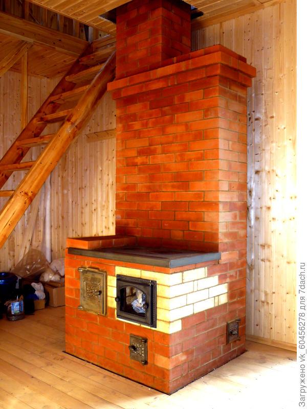 Печь из кирпича для дачного домика