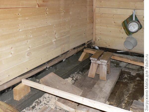 бетонирование нижнего венца
