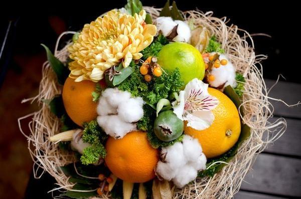 Фруктово овощные букеты