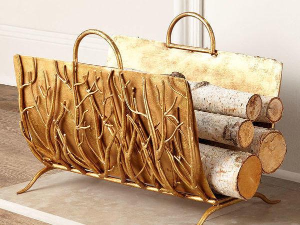 Сварная подставка для дров. Фото с сайта  horchow.com