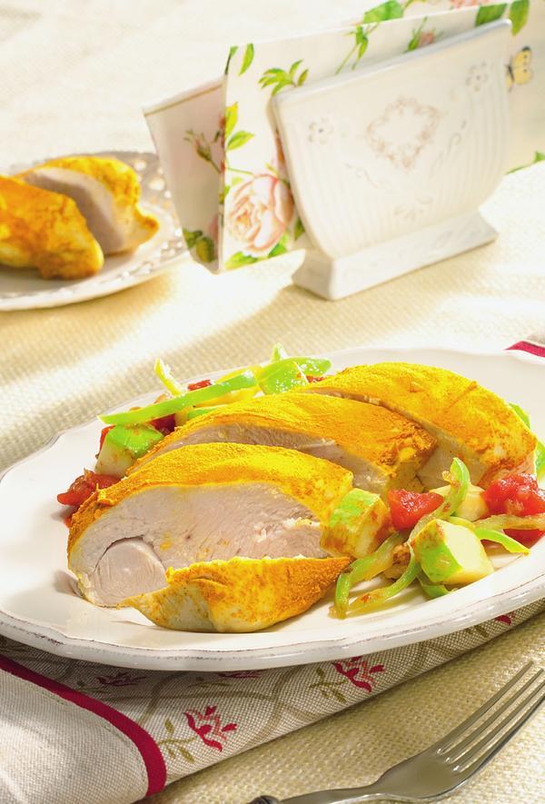 Куриное филе с овощным гарниром