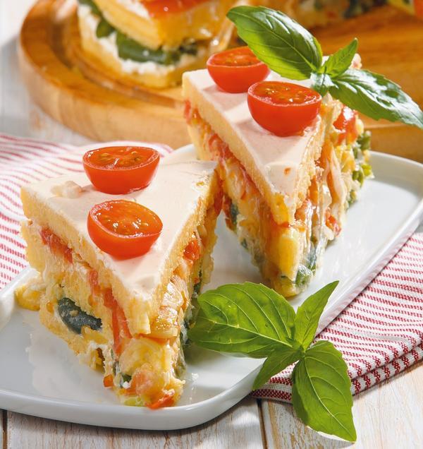 Пирог из поленты и овощей