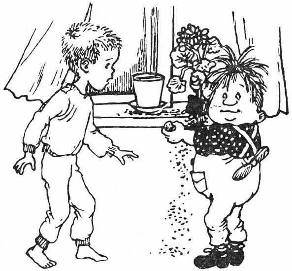 - Если ты посадишь эту косточку, у тебя вырастет целое персиковое дерево, всё увешанное сочными персиками.