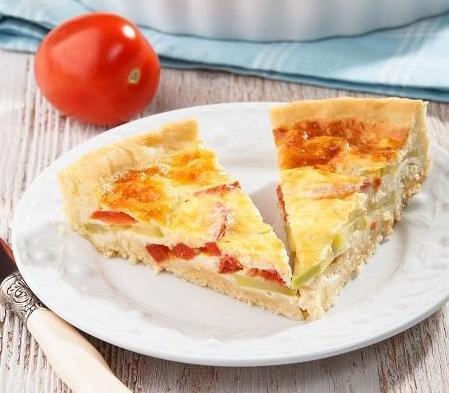 Пирог с помидорами и кабачками