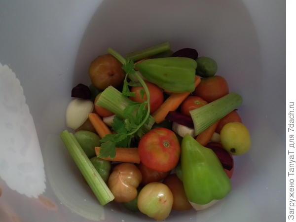 Овощи отправляются на отдых