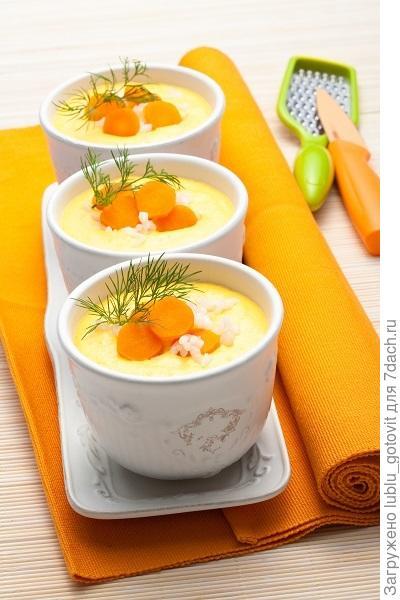 Суп-пюре из моркови с молоком