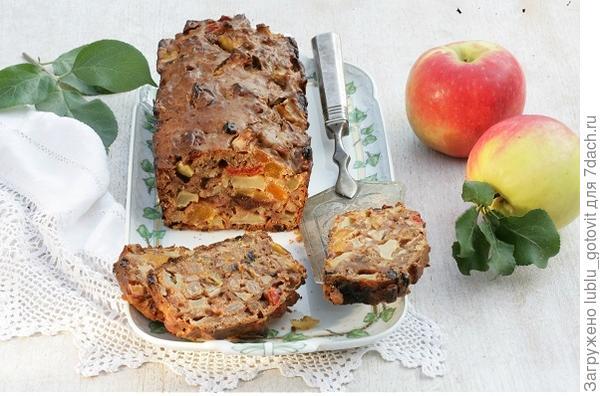 Яблочный хлебец с цукатами и сухофруктами