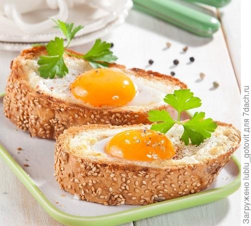 Необычные яичные тосты