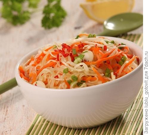 Осенний корейский салат