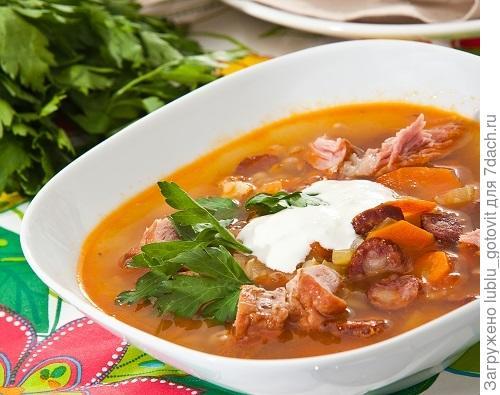 Рецепт суп с фасолью и копченостями рецепт пошагово