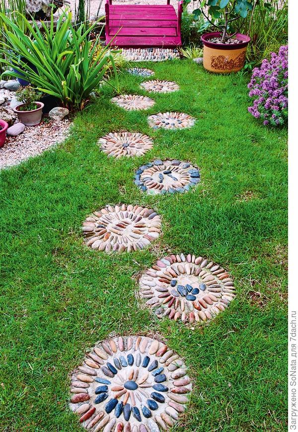 Шаг за шагом идем к цели: для начала сделайте отдельные шаговые плиты.