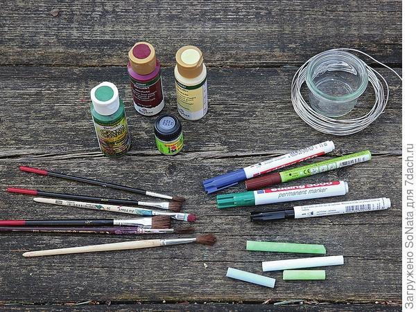 Материал для садовых табличек.