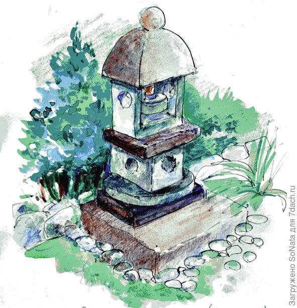 Японский сад - сад камней