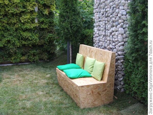 Вот из чего сделан садовый диванчик