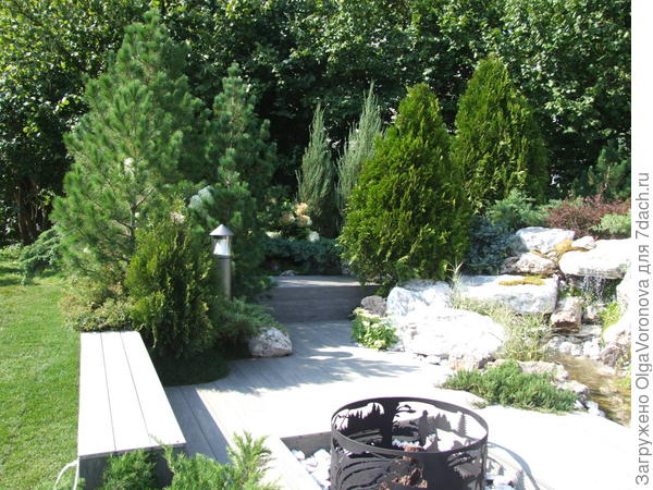 Зонировать сад можно разными способами