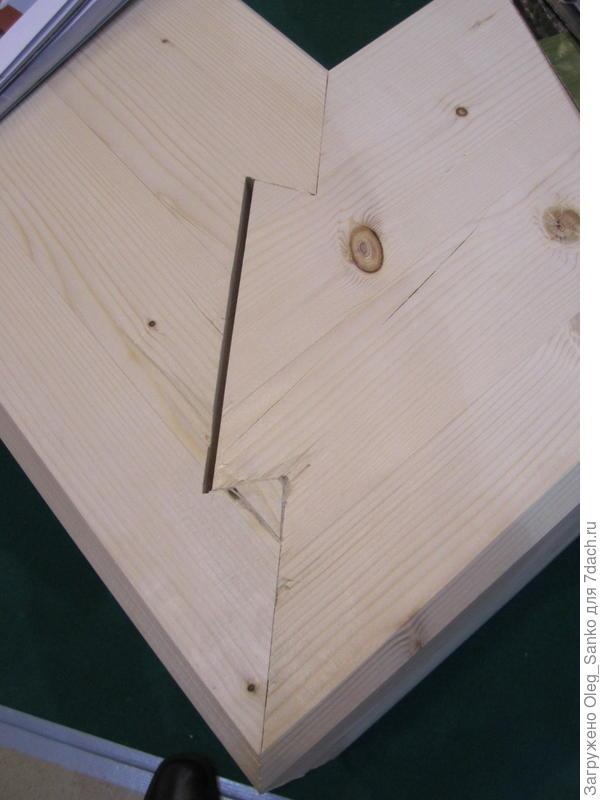 """Пример выполнения стыковочного узла - """"ласточкин хвост"""""""