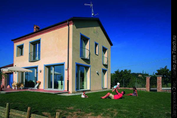 """""""Пассивный"""" дом, построенный со штукатурным фасадом с использованием теплоизоляции Роквул"""