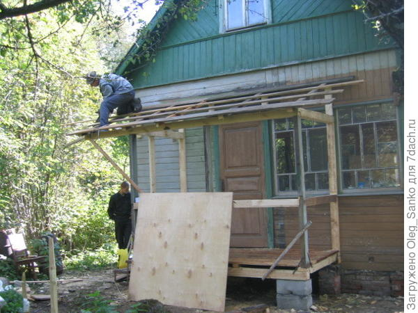 Вариант подготовки каркаса крыши
