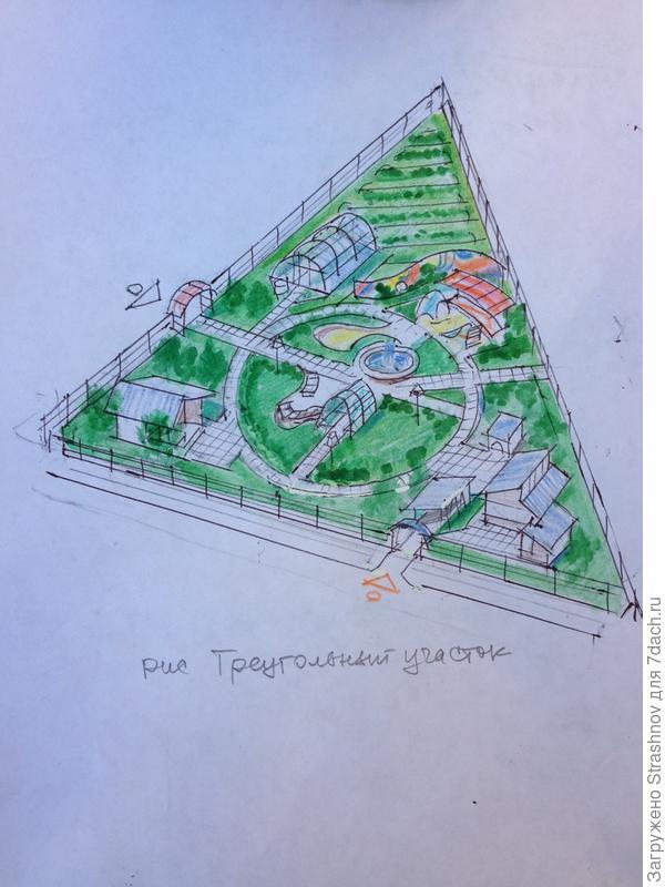 планировка треугольного участка