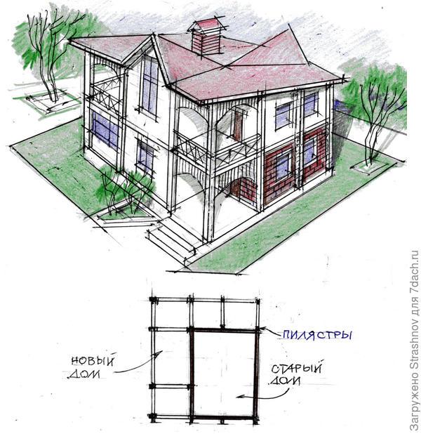 перестройка дачного домика в двухэтажный