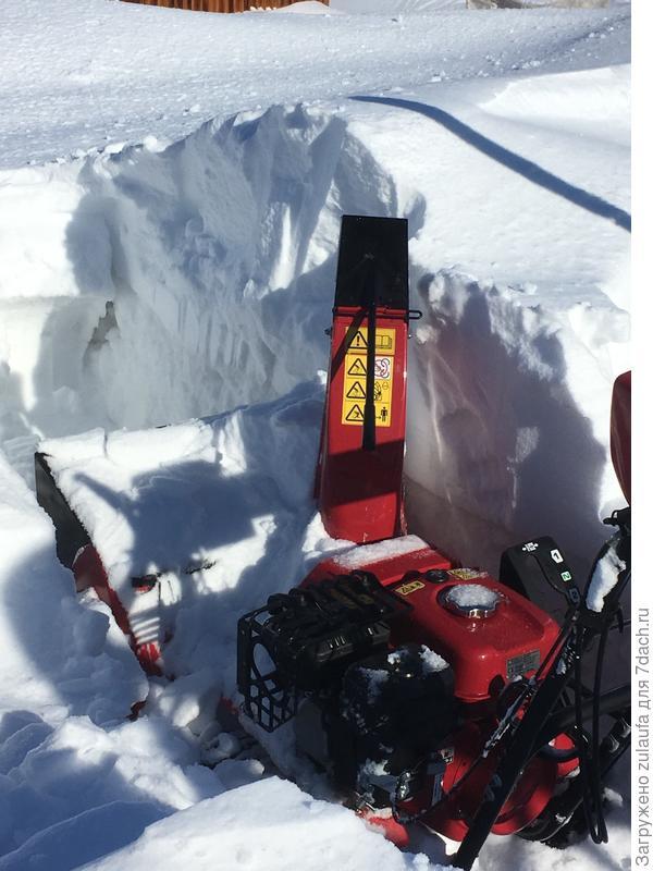 чистим снего